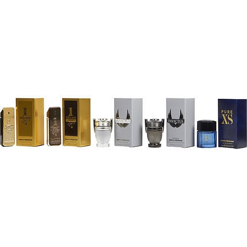 Paco Rabanne Variety by Paco Rabanne 5 Piece Men's Mini Variety