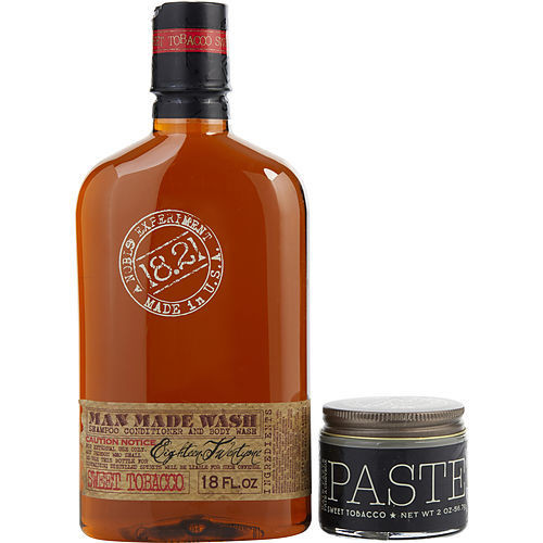 18.21 Man Made by 18.21 Man Made Man Made Wash & Paste Sweet Tobacco (Wash 18 oz, Paste 2 oz)