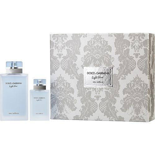 D & G Light Blue Eau Intense by Dolce & Gabbana Eau De Parfum Spray & Eau De Parfum Spray