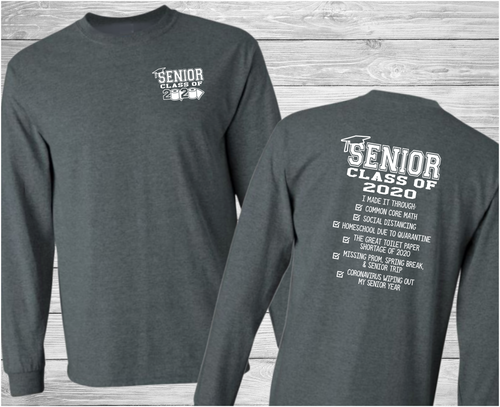 High School Senior Class of 2020 Graduation Long Sleeve T-Shirt by Truth Bomb