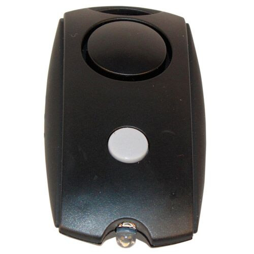 Black Mini Personal Alarm With LED Flashlight