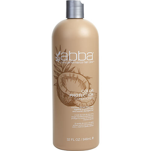 Abba by Abba Pure & Natural Hair Care Color Protection Conditioner 33.8 oz (New Packaging)