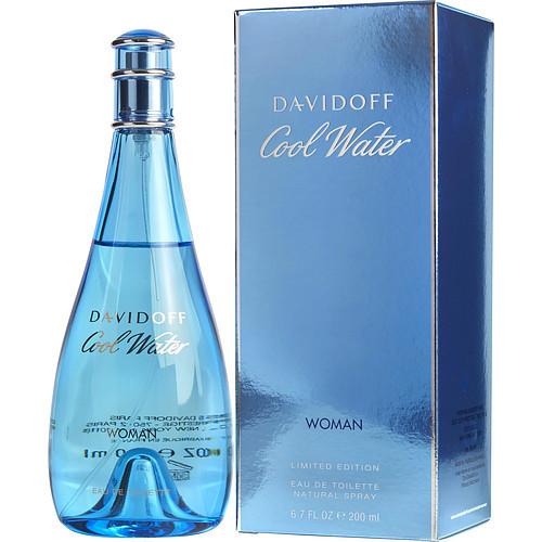 Cool Water by Davidoff Eau De Toilette Spray for Women 6.7 oz