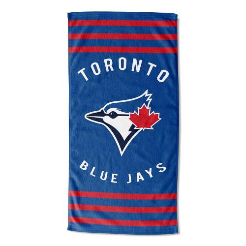 Toronto Blue Jays MLB Stripes Beach Towel