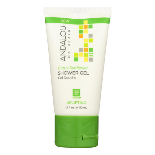 Andalou Naturals Shower Gel Citrus Sunflower - Case of 6 - 1.7 Fl Oz.
