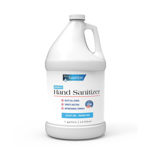 Pro Sanitize Cruelty Free Hand Sanitizer - Case of 4 - 1 Gallon Bottles with Pump