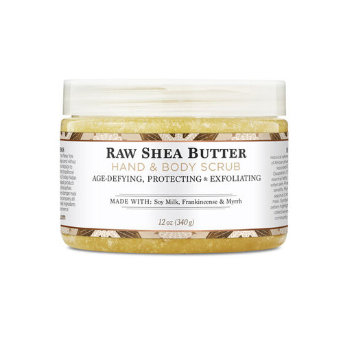 Nubian Heritage Raw Shea Butter Hand and Body Scrub - 12 Oz