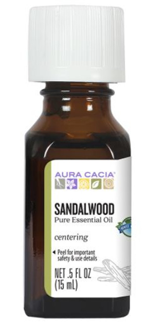 Aura Cacia Sandalwood Essential Oil 0.5 Fl. Oz.