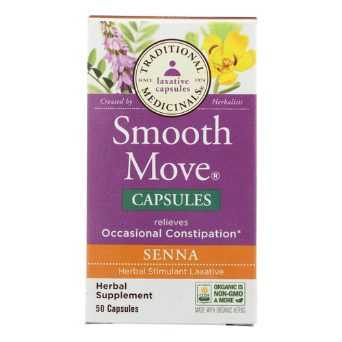 Traditional Medicinals Smooth Move® Capsules - 50 Capsules
