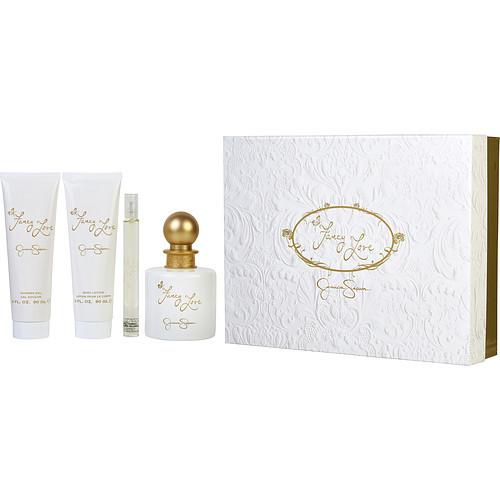 Fancy Love by Jessica Simpson Eau De Parfum Spray 3.4 oz, Body Lotion 3 oz, Shower Gel 3 oz & Mini Eau De Parfum Spray 0.34 oz