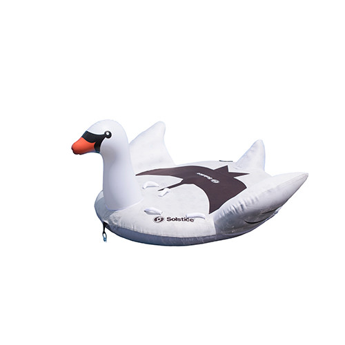 Swimline Solstice Inflatable Raft 2 Person Towable Swan Tube