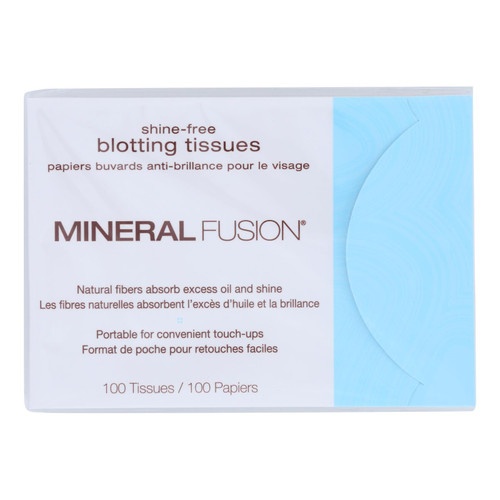 Mineral Fusion Shine-free Blotting Tissues - 100 Count