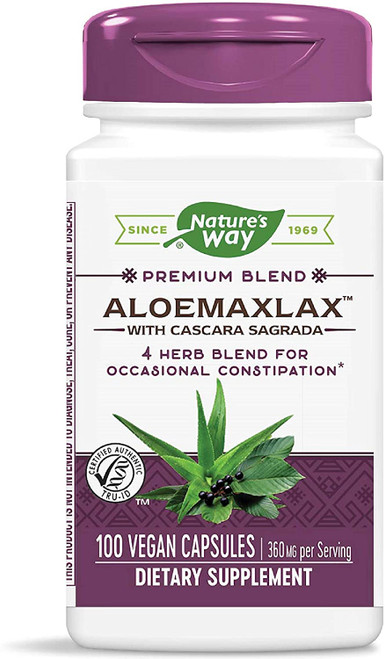 Nature's Way AloeMaxLax with Cascara Sagrada - 100 Capsules