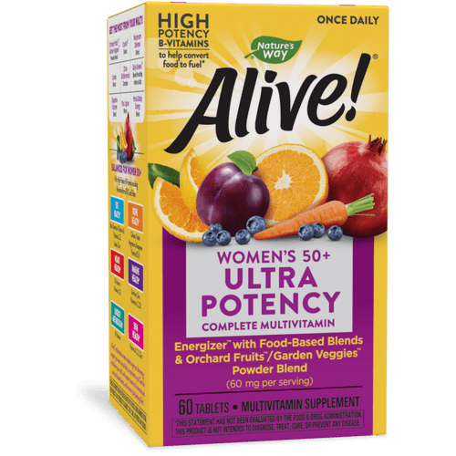 Nature's Way Alive! Once Daily Women's 50+ Ultra Potency Multivitamin - 60 Tablets