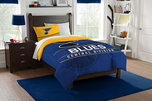 St. Louis Blues NHL Bedding Twin Comforter and Sham Set