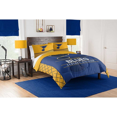 Saint Louis Blues NHL Bedding Full/Queen Comforter and 2 Sham Set