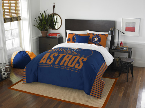 Houston Astros Bedding MLB Full/Queen Comforter and 2 Sham Set