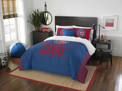 Chicago Cubs MLB Bedding Draft Full/Queen Comforter and 2 Sham Set