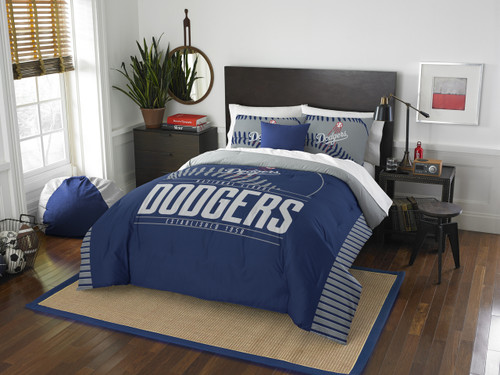 Los Angeles Dodgers MLB Bedding Full/Queen Comforter and 2 Sham Set