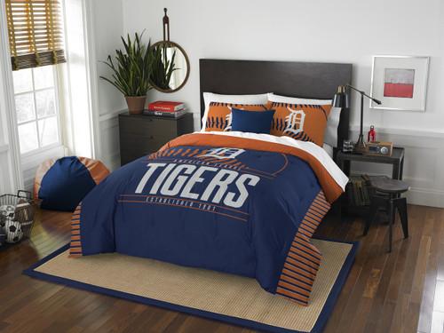 Detroit Tigers MLB Bedding Full/Queen Comforter and 2 Sham Set