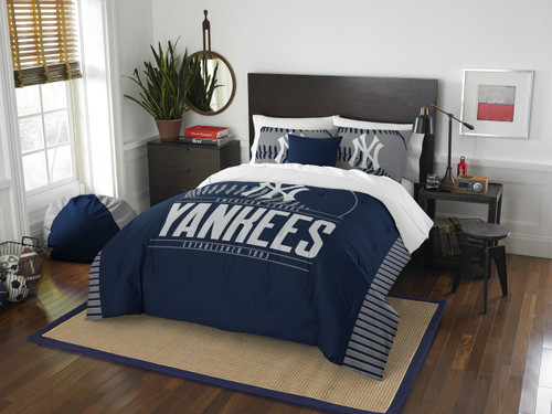 New York Yankees MLB Bedding Draft Full/Queen Comforter and 2 Sham Set