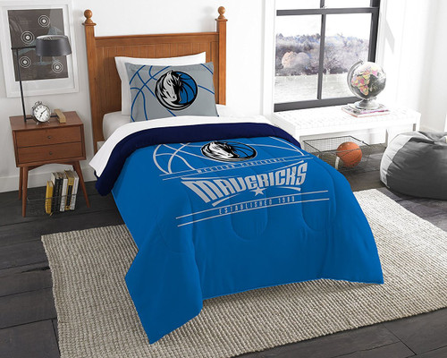 Dallas Mavericks NBA Bedding Full/Queen Comforter and 2 Sham Set