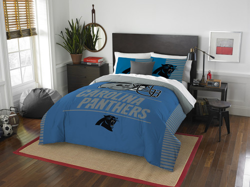 Carolina Panthers NFL Bedding Full/Queen Comforter and 2 Sham Set