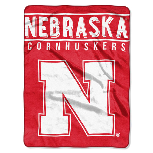 "Nebraska Cornhuskers ""Basic"" Raschel Throw Blanket"