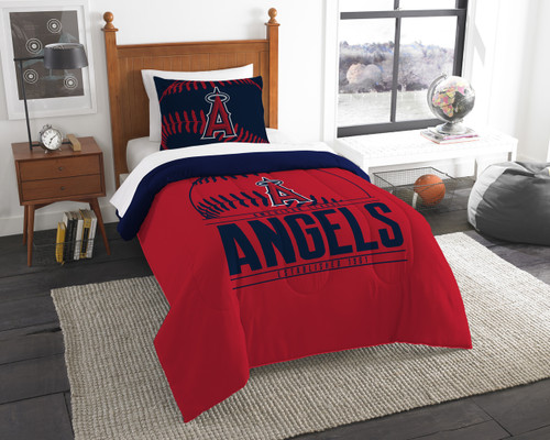 Los Angeles Angels MLB Bedding Twin Comforter and Sham Set