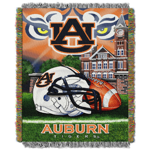 Auburn Tigers Home Field Advantage Woven Tapestry Throw