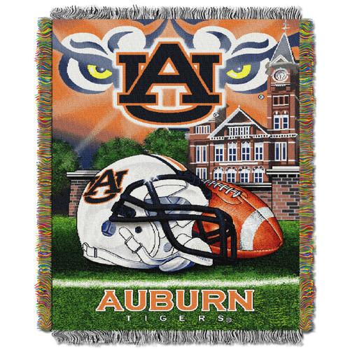Auburn Tigers Home Field Advantage Woven Tapestry Throw