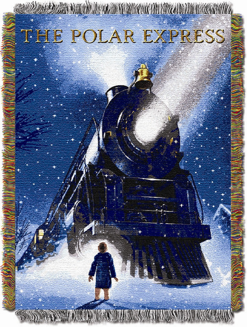 The Polar Express Engine Wonder Woven Tapestry Throw