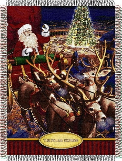The Polar Express Santa's Flight Woven Tapestry Throw