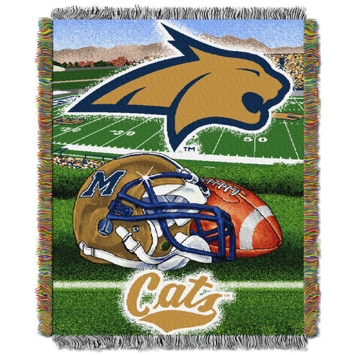 Montana State Bobcats Home Field Advantage Woven Tapestry Throw