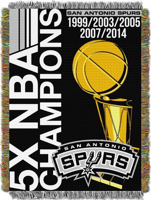 San Antonio Spurs NBA Commemorative Woven Tapestry Throw