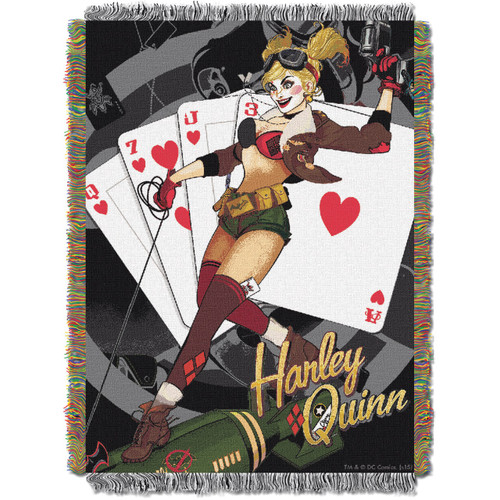"Harley Quinn, ""Harley Queen"" Woven Tapestry Throw"