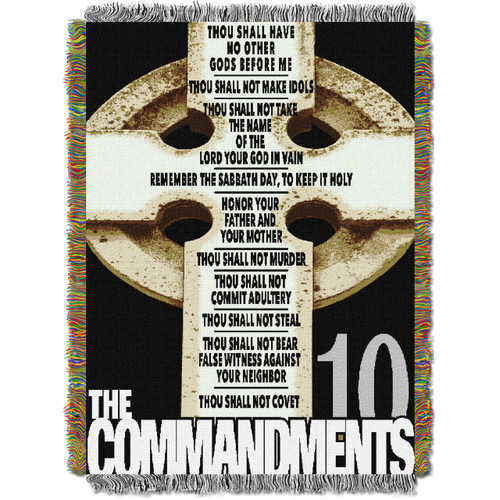 Big Ten Commandments Woven Tapestry Throw