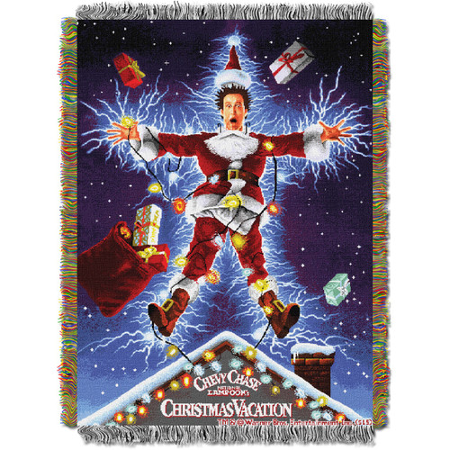 Christmas Vacation Shocking Chevy Woven Tapestry Throw