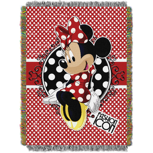 Minnie's Bowtique Forever Minnie Woven Tapestry Throw