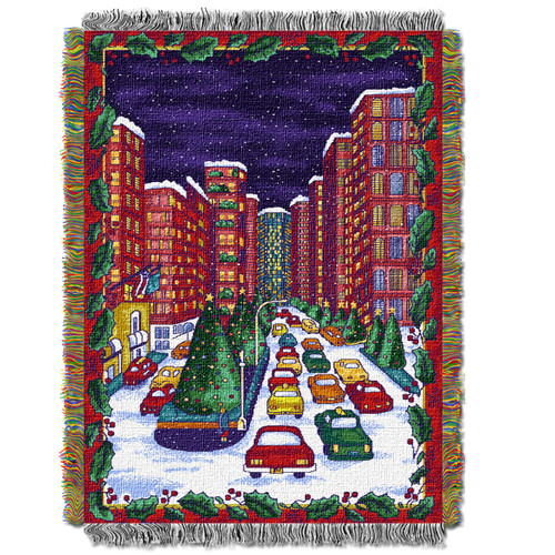 Holiday City Woven Tapestry Throw