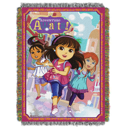 Dora and Friends Adventure Awaits Woven Tapestry Throw