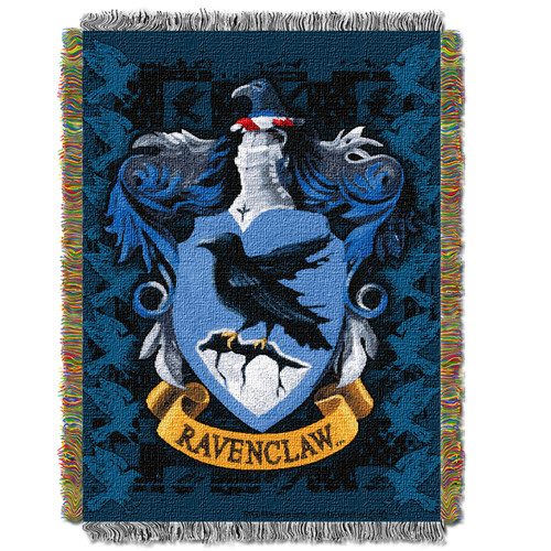 Harry Potter Ravenclaw Crest Woven Tapestry Throw