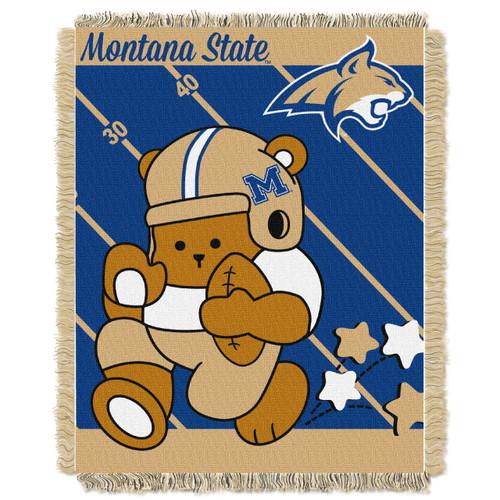 Montana State Bobcats Fullback Baby Woven Jacquard Throw
