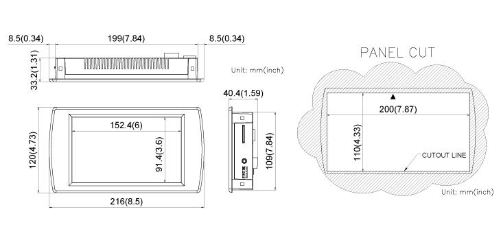 COMFILE CWV070BR Dimensions