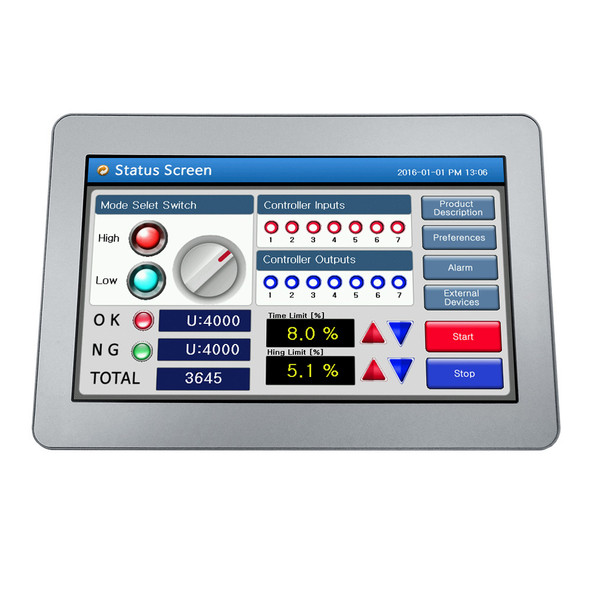 "CHA-070WR - 7"" Water-Resistant Human Machine Interface (HMI)"