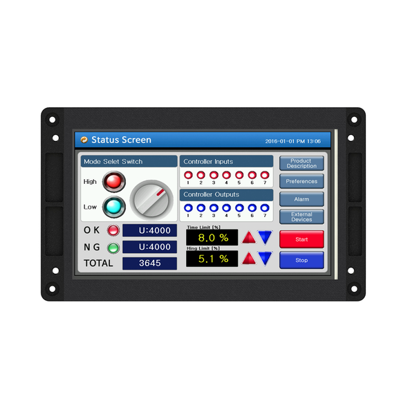 "CHA-070PR - 7"" Open-Frame Human Machine Interface (HMI)"