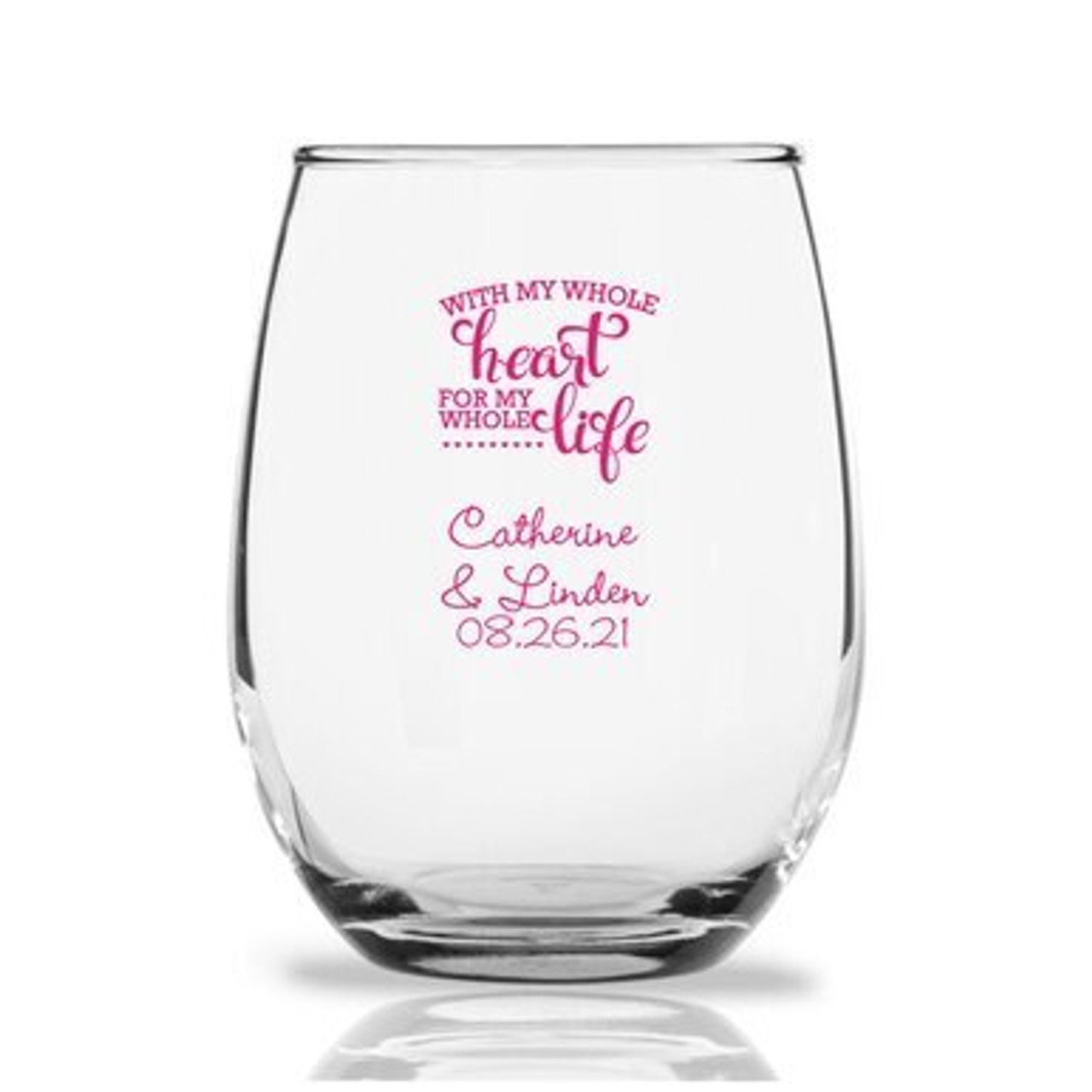 Made in USA Proud Navy Wife Stemless Wine Glass 15 oz Home ...