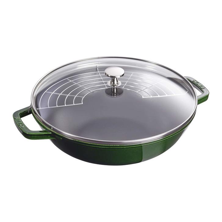 Staub Cast Iron Perfect Pan in Basil Green