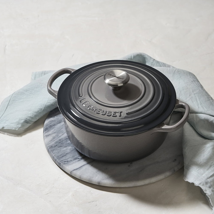 Le Creuset Cast Iron Round Dutch Oven in Oyster
