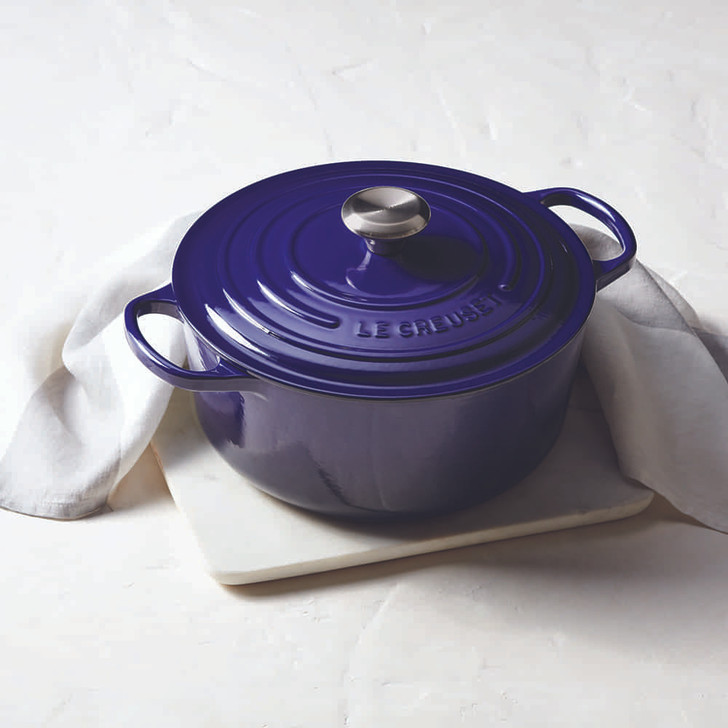 Le Creuset Cast Iron Round Dutch Oven in Indigo